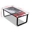 Picture of Living Room Telephone Booth Printing Glass Coffee Table
