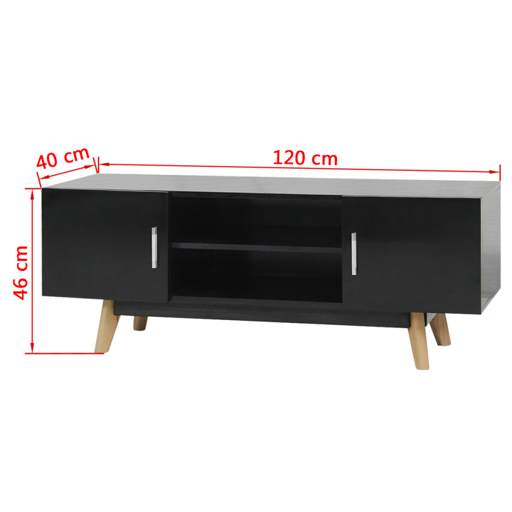 Picture of Living Room TV Cabinet High Gloss - Black