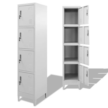 """Picture of Locker Cabinet Storage with 4 Compartments 15"""""""