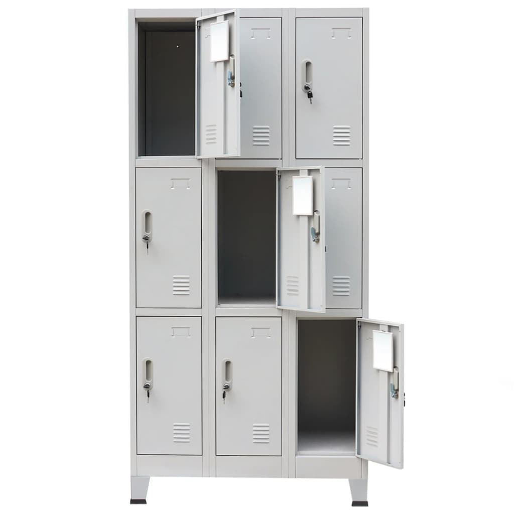 Picture of Locker Cabinet with 9 Compartments 35""