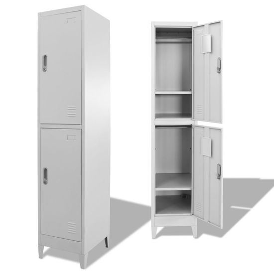 Picture of Locker Storage Cabinet with 2 Compartments 15""