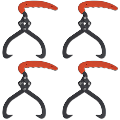 Picture of Log Tongs with PVC Handle 4 pcs