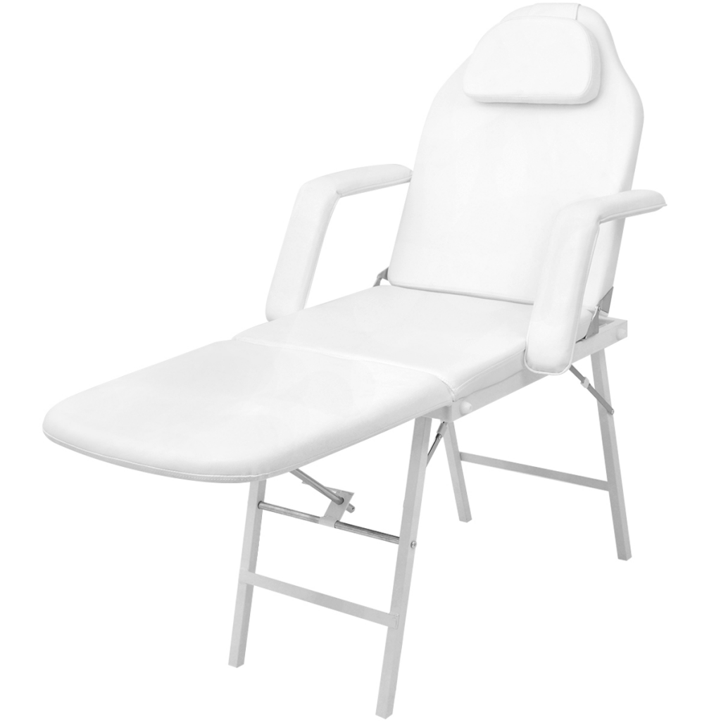 Picture of Massage Table Facial Bed Artificial Leather - White