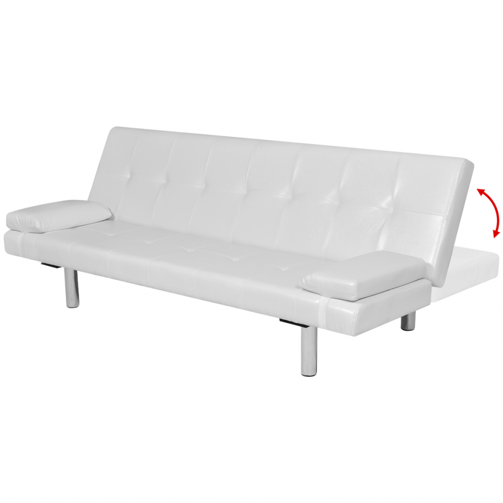 Picture of Modern Adjustable Futon - White