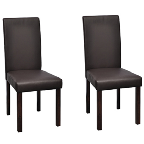 Picture of Dining Chairs - Brown 2 pc