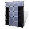 Picture of Modular Cabinet with 14 Compartments - Black/White