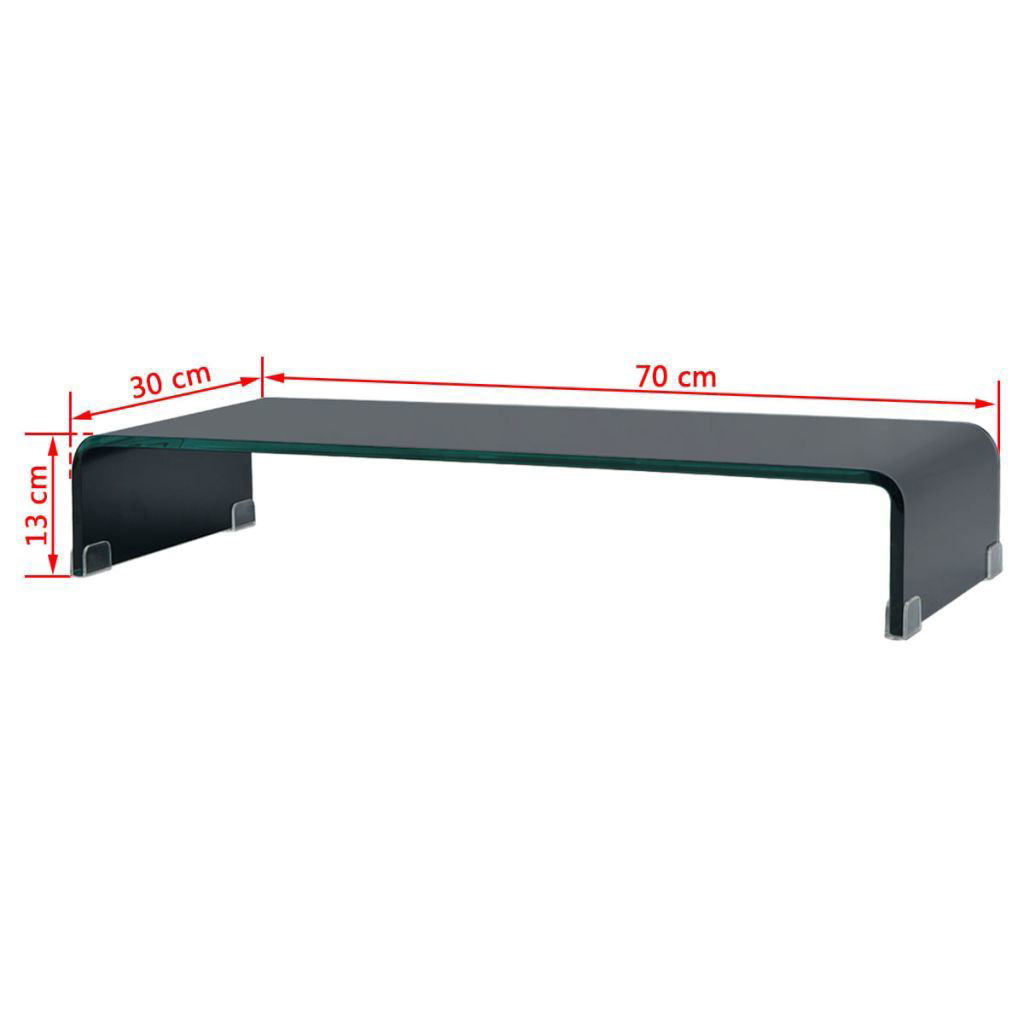 """Picture of Monitor Riser/TV Stand 27"""" - Glass Black"""