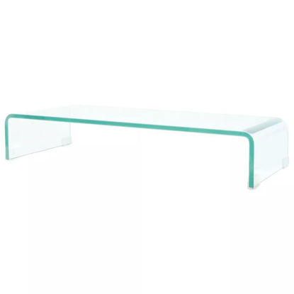 "Picture of Monitor Riser/TV Stand 27"" - Glass Clear"