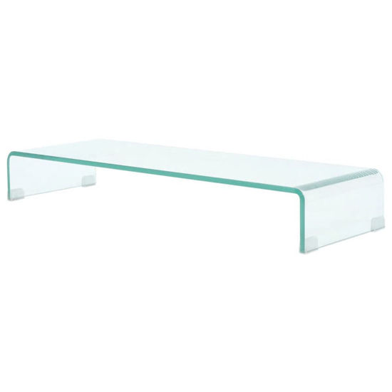 "Picture of Monitor Riser/TV Stand 35"" - Glass Clear"