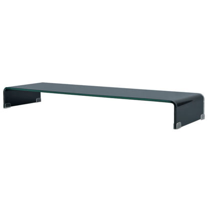 "Picture of Monitor Riser/TV Stand 43"" - Glass Black"