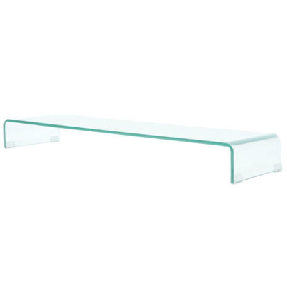 "Picture of Monitor Riser/TV Stand 43"" - Glass Clear"