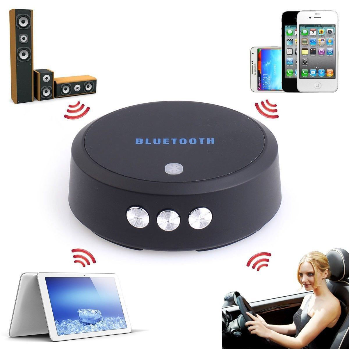 Picture of NFC Enabled Wireless Bluetooth V3.0 Stereo Music Audio Receiver for Car/Home