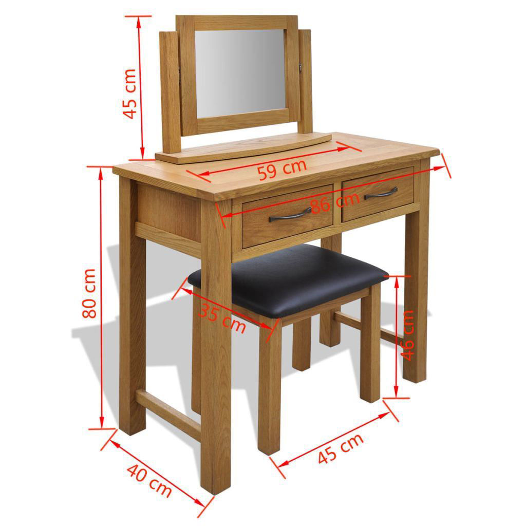 Picture of MakeUp Dressing Table with Stool