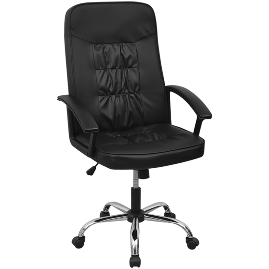 """Picture of Office Chair Artificial Leather 26.4""""x27.6"""" Black"""
