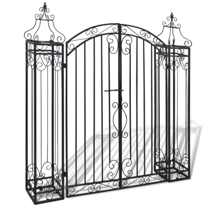Picture of Ornamental Iron Driveway Entry Gate