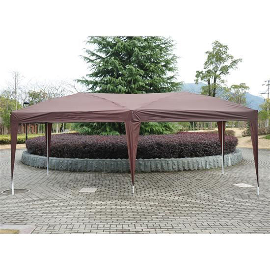 Picture of Outdoor 10' x 20' Easy Pop Up Canopy Tent - Coffee Brown