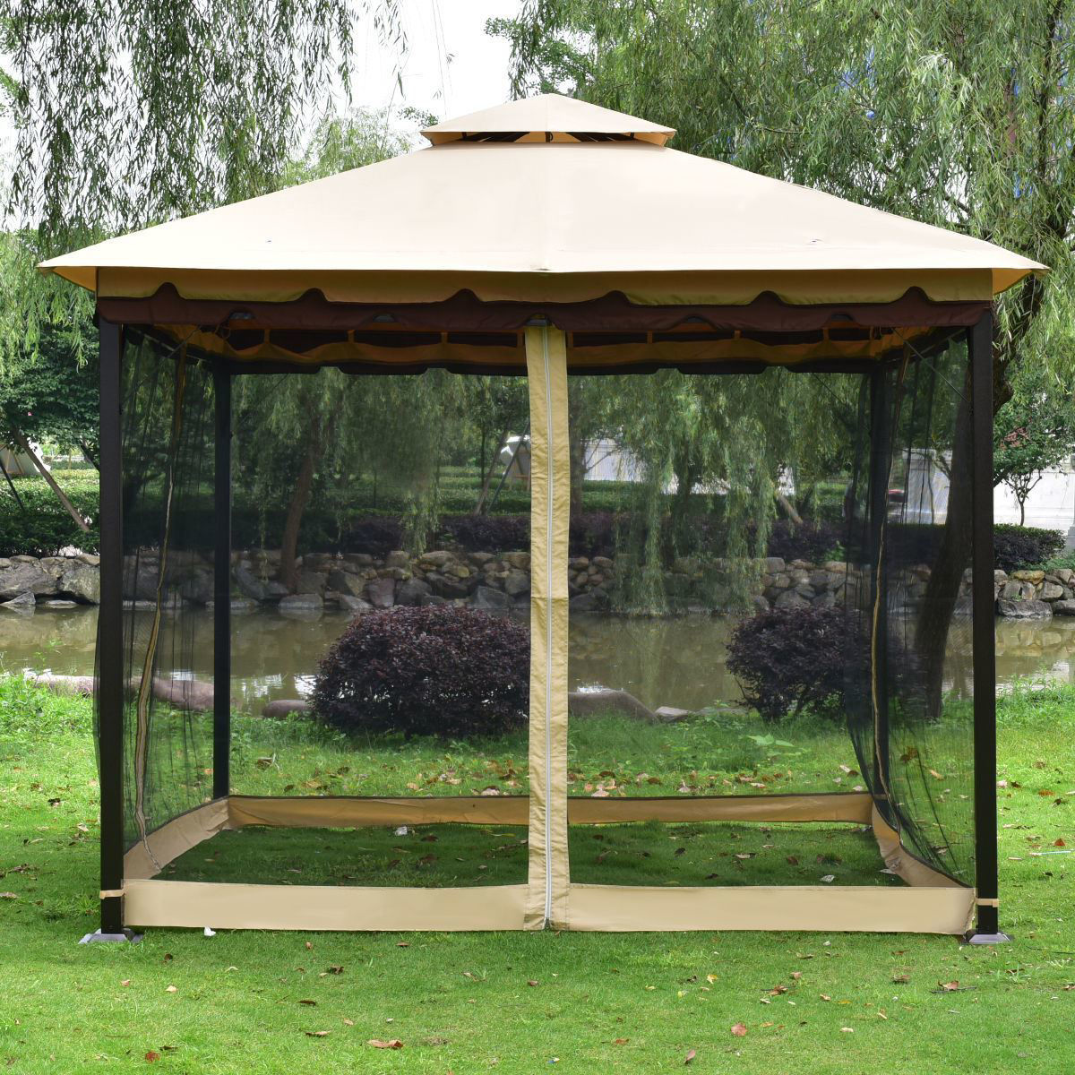 Picture of Outdoor 10'x10' Patio Tent Gazebo 2-Tier