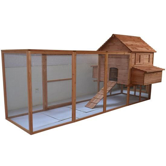 "Picture of Outdoor 144"" Chicken Coop Hen House with Long Run"