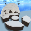 Picture of Outdoor Round Lounger with Canopy - Brown