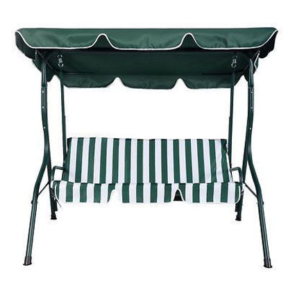 Picture of Outdoor 3 Person Patio Swing - Green