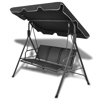 Picture of Outdoor 3-Person Swing Canopy - Black