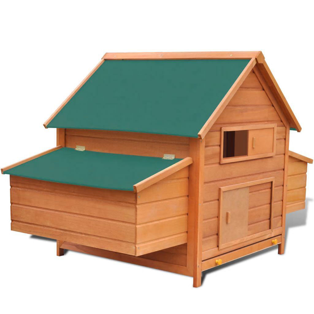 "Picture of Outdoor 61"" Wooden Chicken Coop"