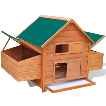 "Picture of Outdoor 63"" Wooden Chicken Coop with Nesting Box Poultry"