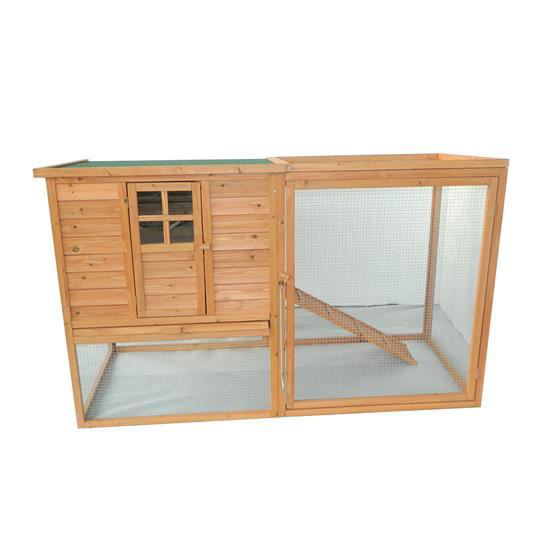 "Picture of Outdoor 64"" Chicken Coop with Nesting Box and Run"