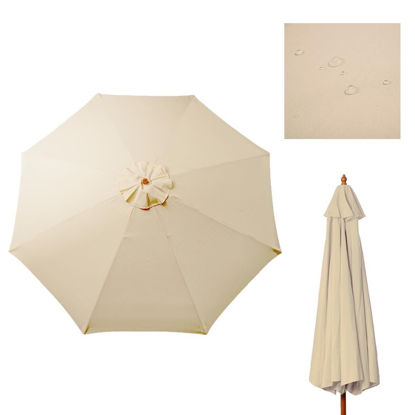 Picture of Outdoor 8.7 Ft Patio Umbrella Cover Canopy Replacement Top Tan for 8 Ribs Beige