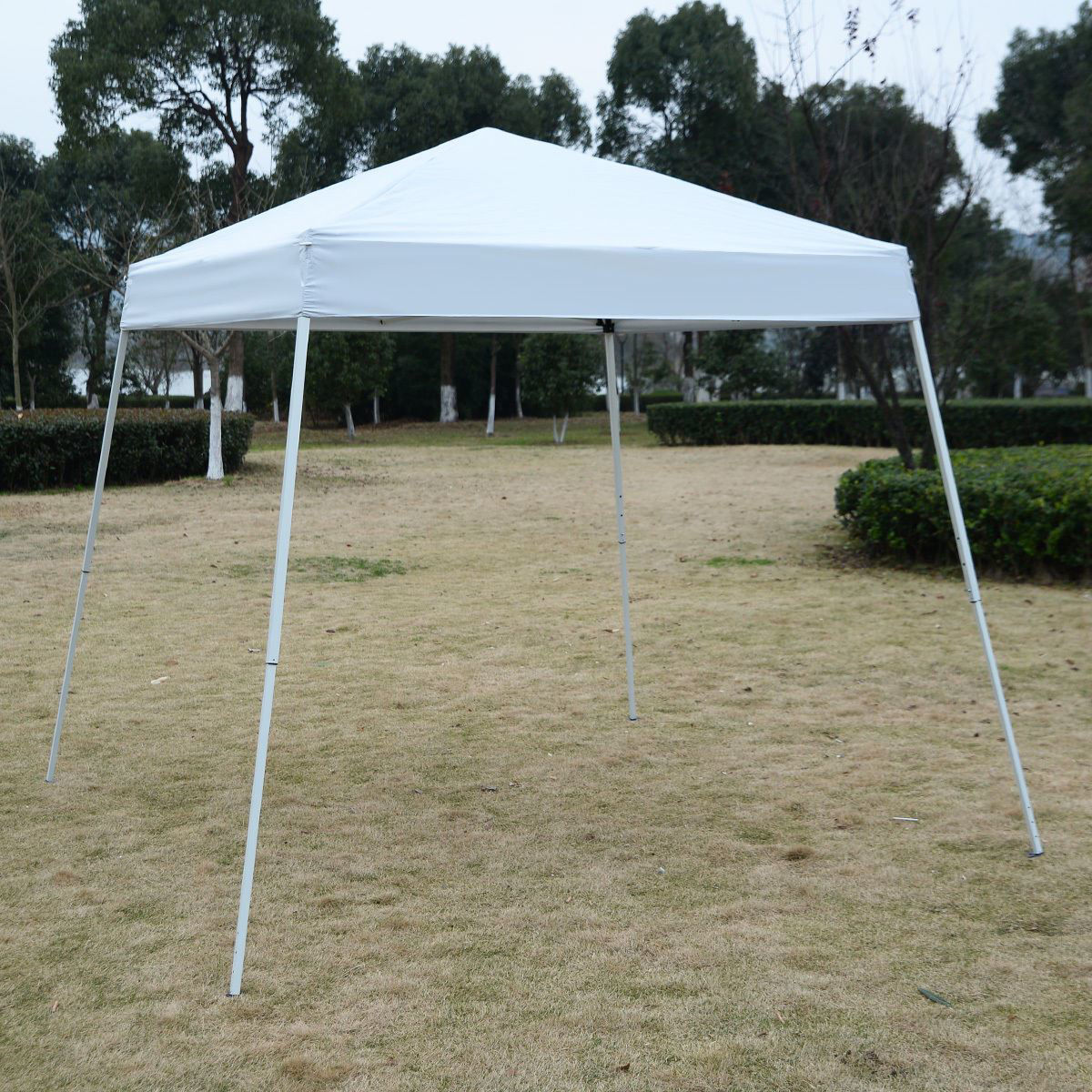 Picture of Outdoor 8'x8' EZ Pop Up Tent Gazebo with Carry Bag - White
