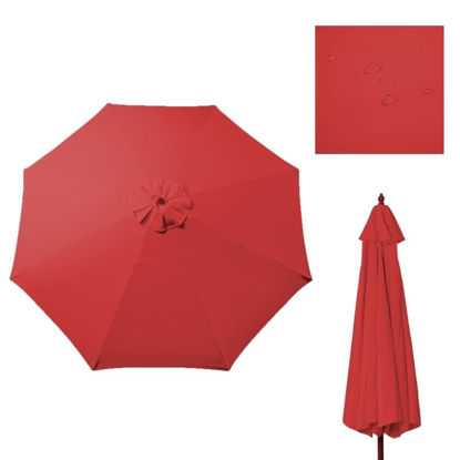 Picture of Outdoor 9 Ft Umbrella Cover Canopy Replacement Top for 8 Ribs - Red