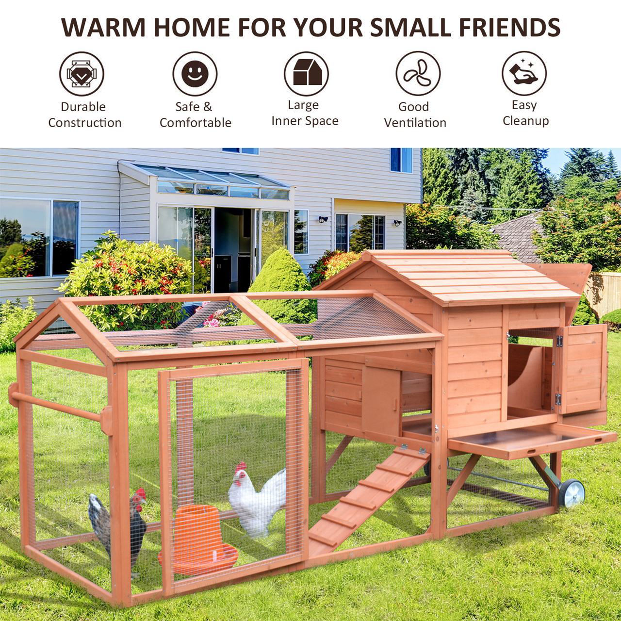 Picture of Outdoor Chicken Coop - 98""