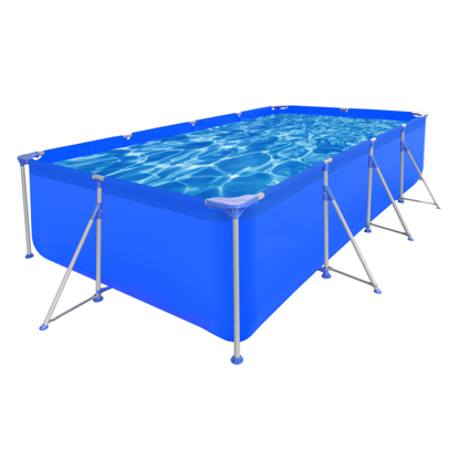 "Picture of Outdoor Above Ground Swimming Pool Steel Rectangular 12' 11"" x 6' 10"" x 2' 7"""