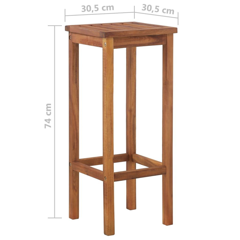 Picture of Outdoor Bar Chairs - 2 pcs Solid Acacia Wood