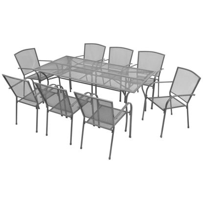Picture of Outdoor Bistro Set 9pc - Steel Mesh