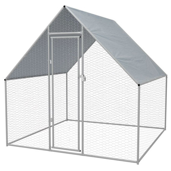 Picture of Outdoor Chicken Cage Galvanized Steel