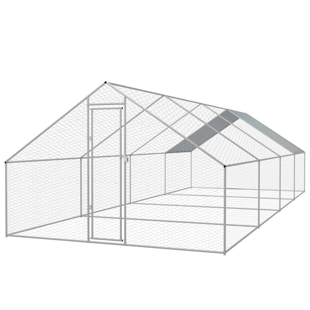 Picture of Outdoor Chicken Cage Galvanized Steel 910x262x66