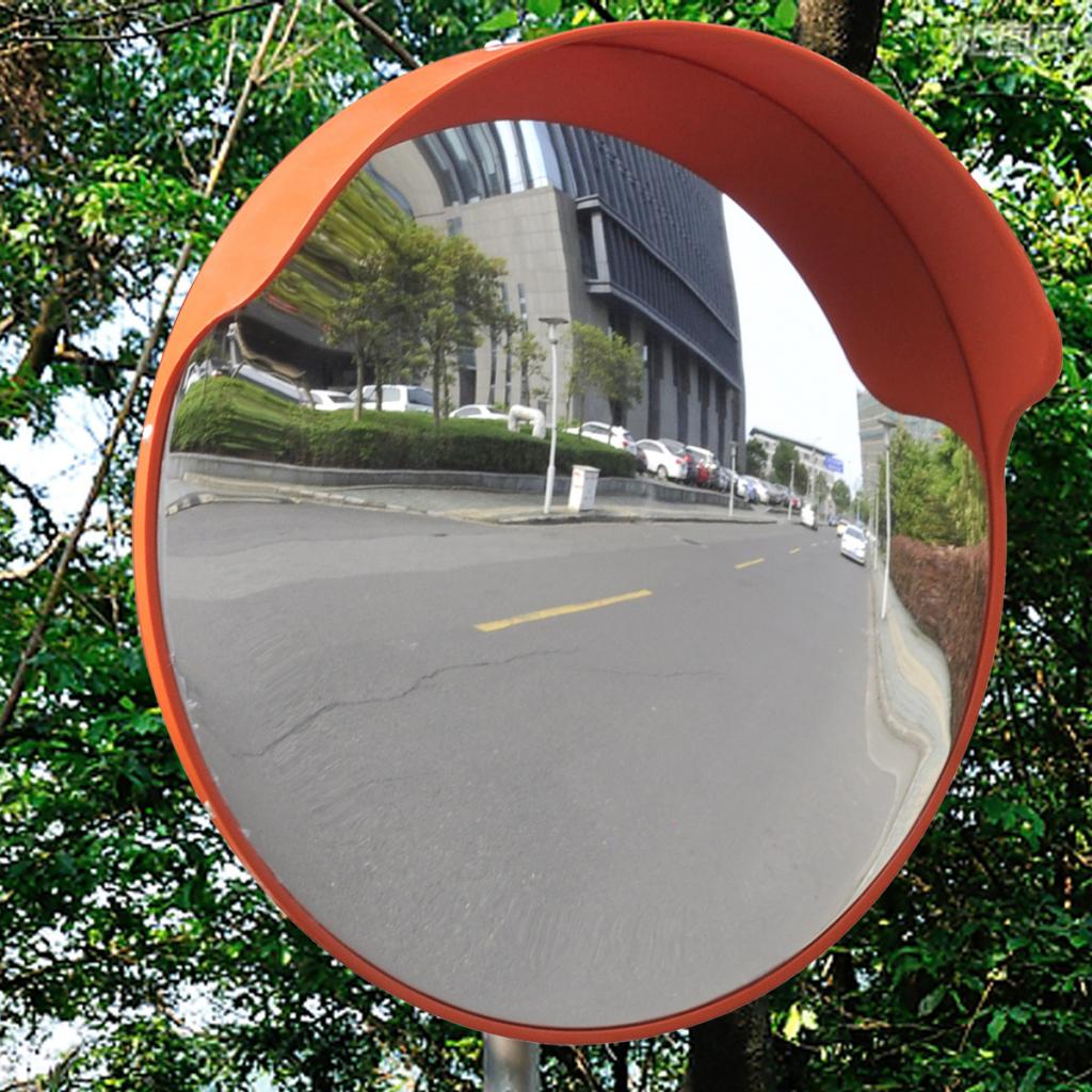 """Picture of Outdoor Convex Traffic Mirror PC Plastic - 18"""" Orange"""