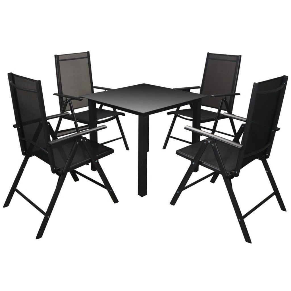 Picture of Outdoor Dining Set - Aluminum 5pc Black