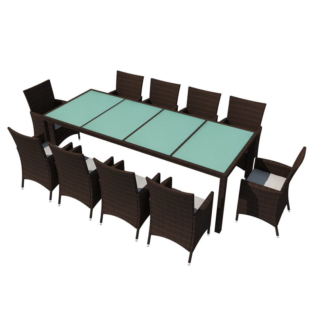 Picture of Outdoor Dining Set - Poly Rattan - Brown