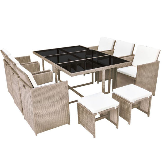 Picture of Outdoor Dining Set - Gray Beige
