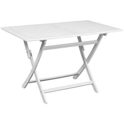 Picture of Outdoor Dining Table Acacia Wood Rectangular - White