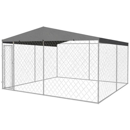 Picture of Outdoor Dog Kennel with Roof 13x13