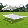 Picture of Outdoor Double Hammock Sunbed with Canopy and 2 Pillows - Cream White