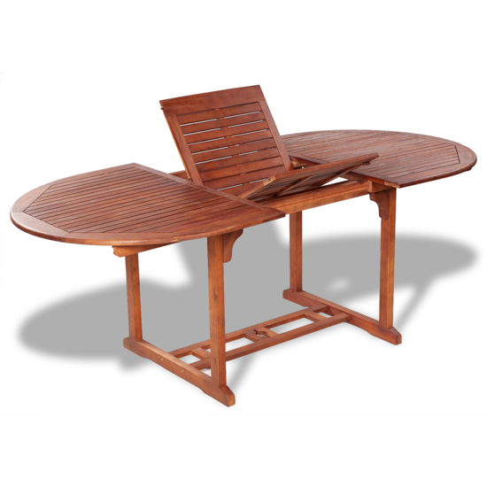 Picture of Outdoor Extendable Dining Table Acacia Wood
