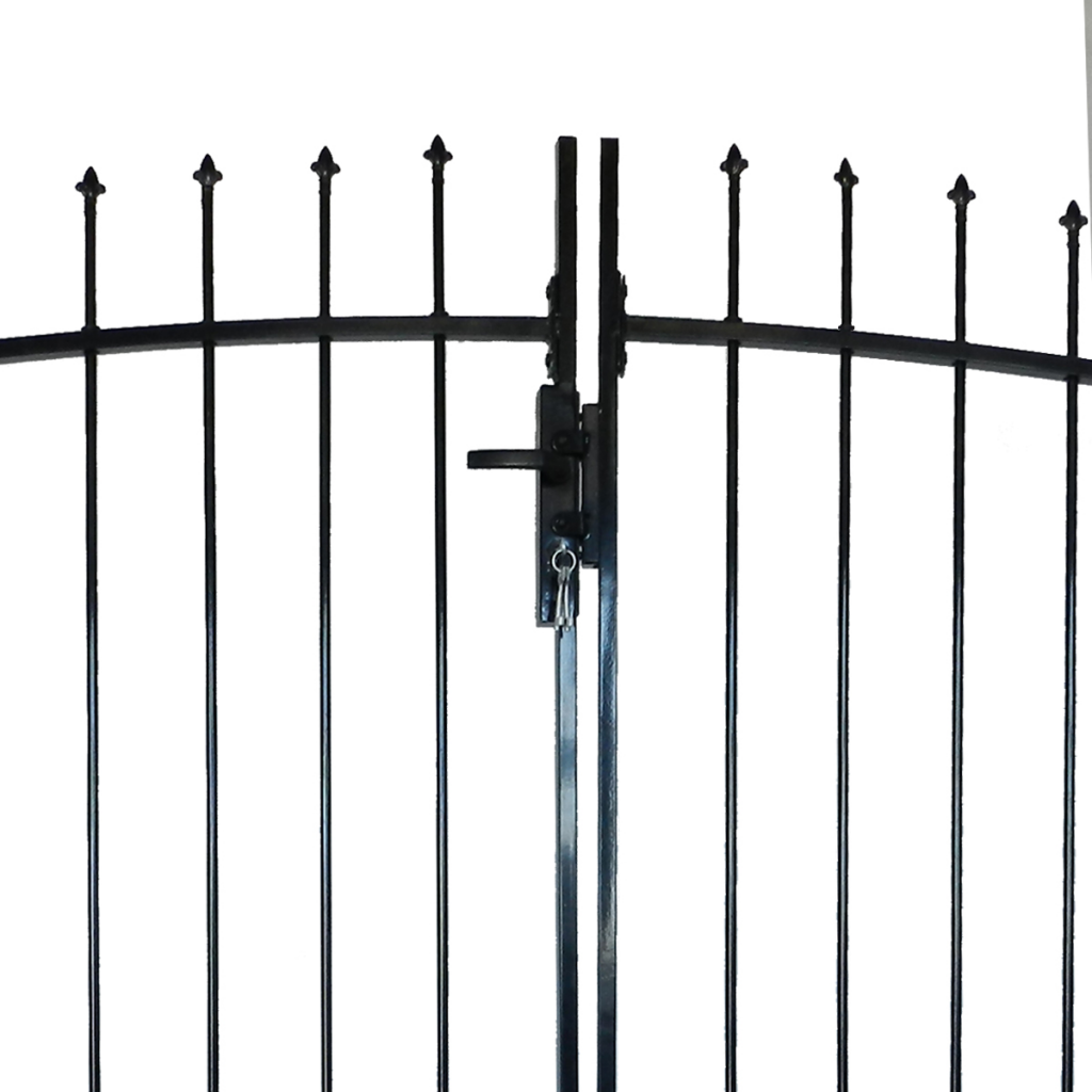 Picture of Outdoor Fence Double Door Gate with Spear Top 10' x 5'