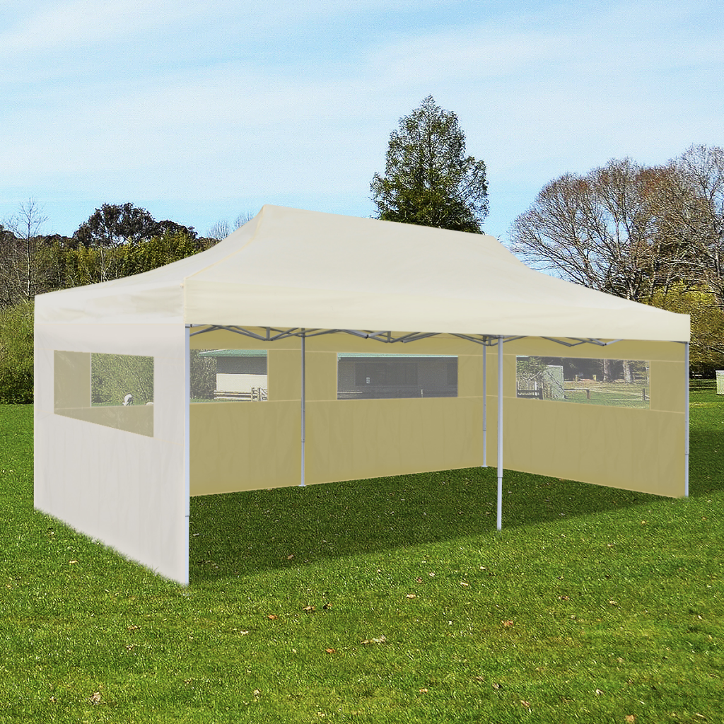 Picture of Outdoor Foldable Pop-up Party Tent 10' x 20' - Cream