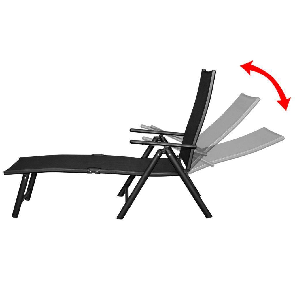 Picture of Outdoor Folding Aluminum Dining Set 12pc - Black