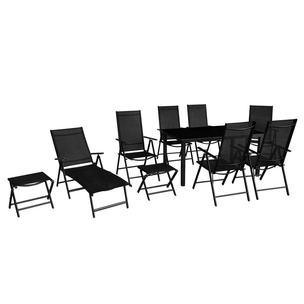 Picture of Outdoor Folding Dining Set 10pc - Black