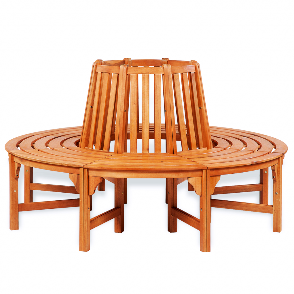 Picture of Outdoor Furniture Circular Wood Tree Bench Seating